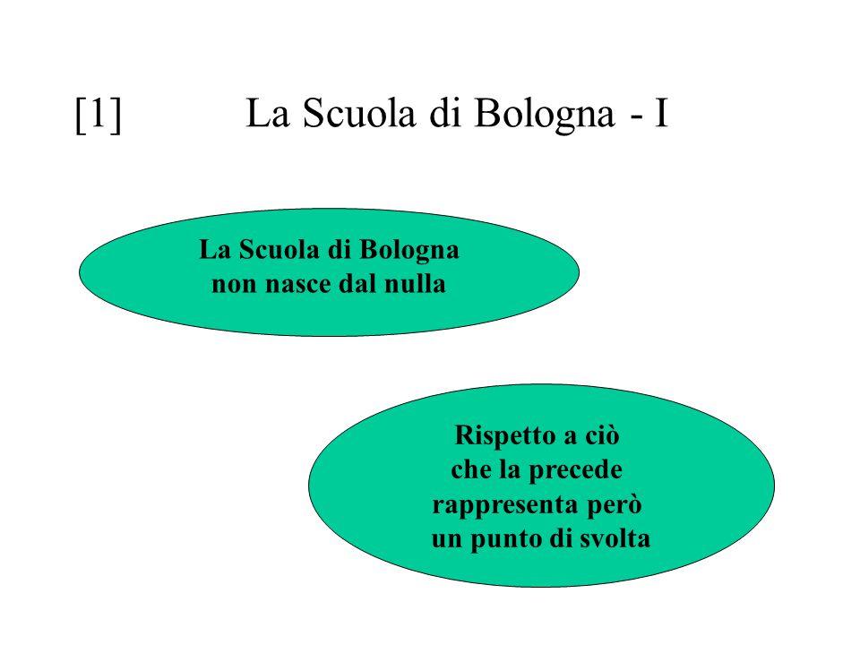 [1] La Scuola di Bologna - I